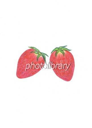 真っ赤なイチゴ 手書きイラスト イラスト素材 583495