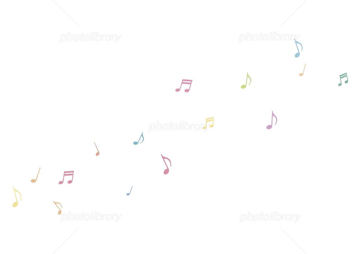 壁紙 カラフル音符 白 イラスト素材 587962 フォトライブラリー