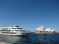 Opera House and cruise ship Stock photo [582725] Australia