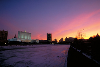 Sunrise Moscow River and the Russian Federation Cabinet Building Stock photo [584212] Russia