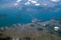 Marugame Sakaide Seto Ohashi Bridge Aerial Stock photo [584711] Kagawa