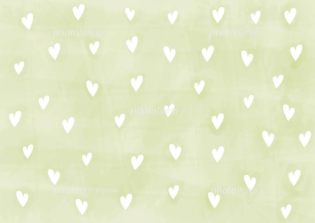 壁紙 ハート 黄緑に白 イラスト素材 750392 フォトライブラリー