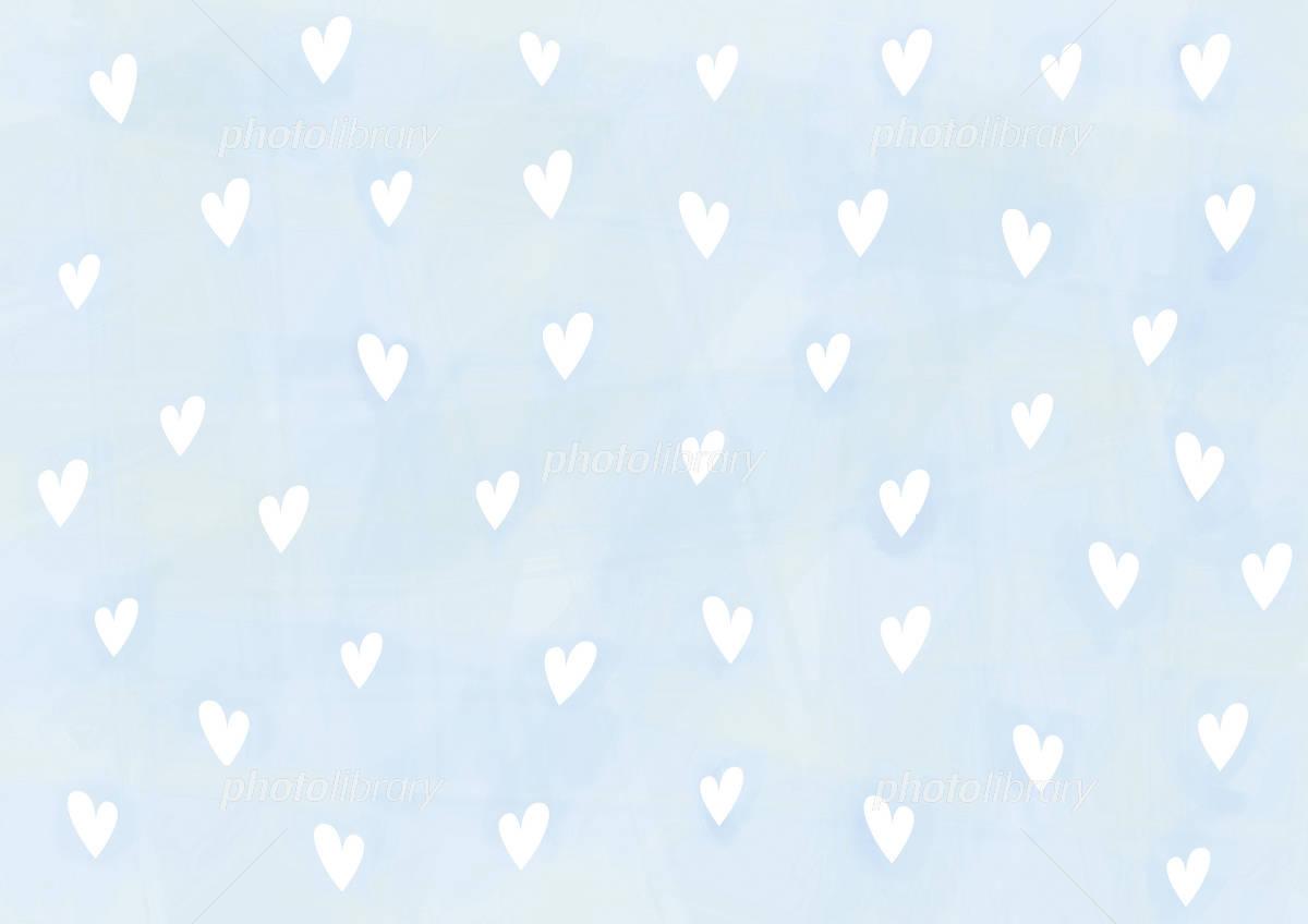 壁紙 ハート 水色に白 イラスト素材 750395 フォトライブラリー