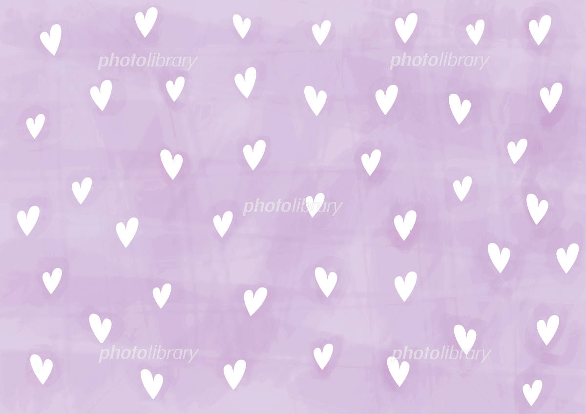 壁紙 ハート 紫に白 イラスト素材 750417 フォトライブラリー
