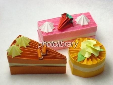 クリスマス 折り紙 折り紙 ケーキ : photolibrary.jp
