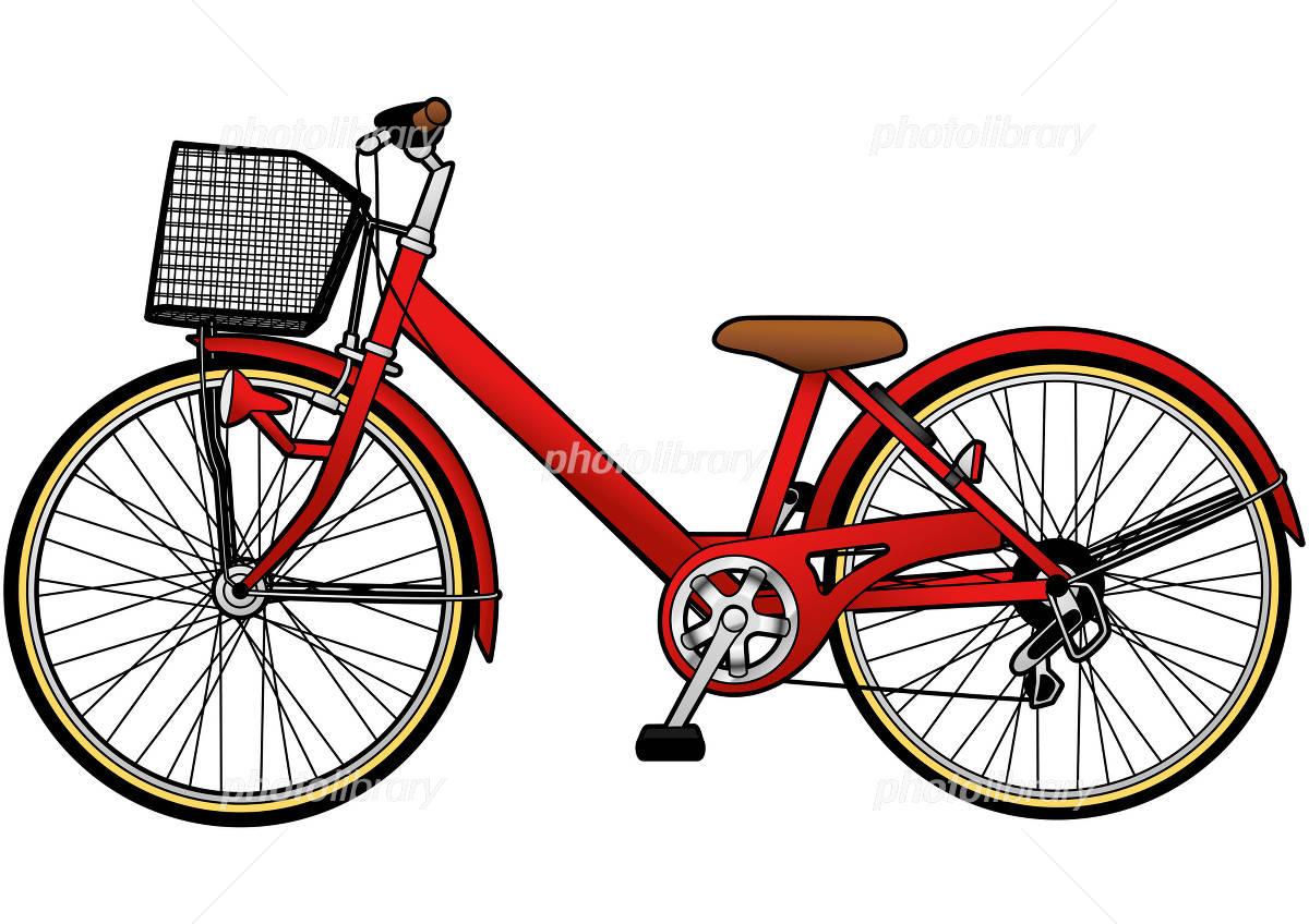 自転車イラスト 赤色 画像ID ...