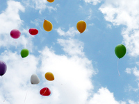 Balloons and sky Stock photo [898131] Balloon