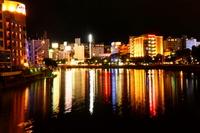 Nakasu of night view Stock photo [898479] Fukuoka