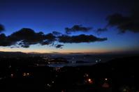 九份から見た基隆の夜景