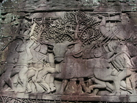 Mural cattle and battle of Cambodia ruins Stock photo [902965] Cambodia