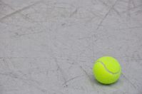 The bottom right of the tennis ball Stock photo [910888] Tennis