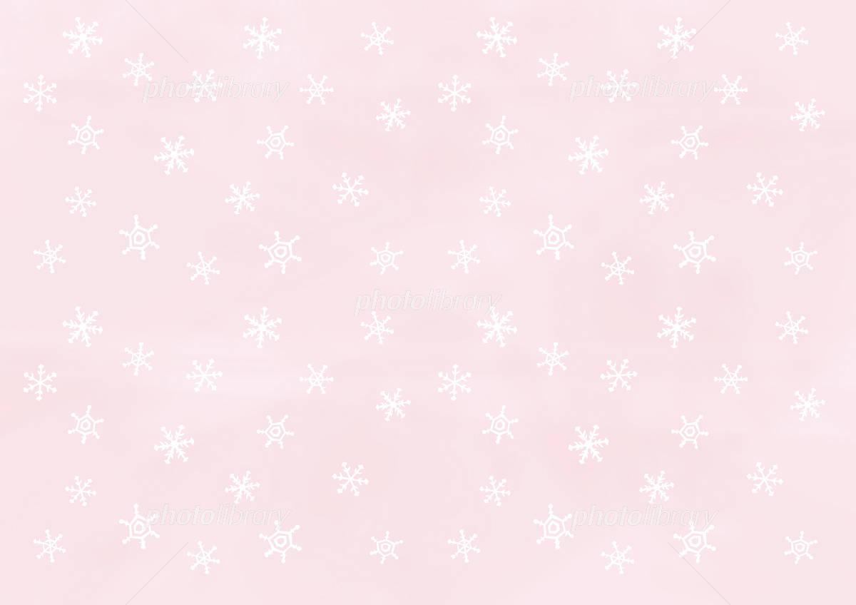 壁紙 雪の結晶 ピンク イラスト素材 997375 フォトライブラリー