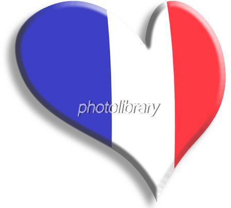 フランスの国旗柄のハート イラスト素材 999340 フォトライブ