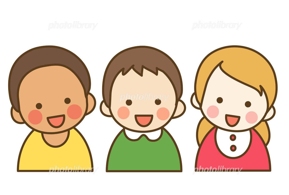 人種の違う子供達 イラスト素材 [ 1004913 ] - フォトライブラリー