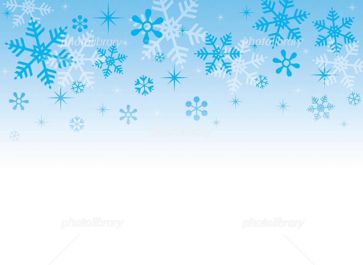 冬の背景素材~雪の結晶~ イラスト素材 [ 1005795 ] - フォトライブラリー