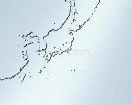 日本地図・白地図/東アジア ... : 日本列島 白地図 : 日本
