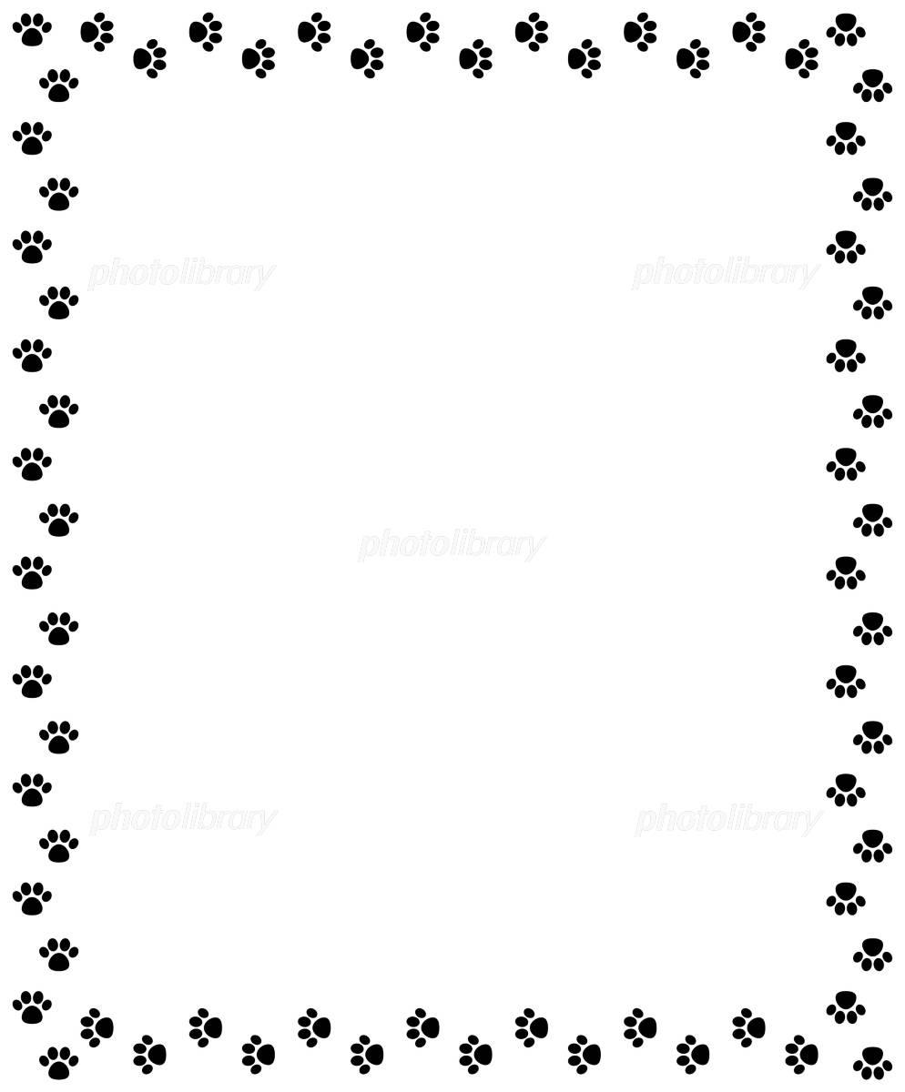 足跡のフレーム イラスト素材 [ 1013750 ] - フォトライブラリー