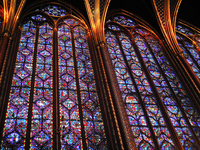 Paris Sainte-Chapelle stained glass chapel Banks of the Seine Stock photo [997066] Beam