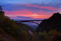 Fudosawa Bridge sunrise Stock photo [1013059] Bandai