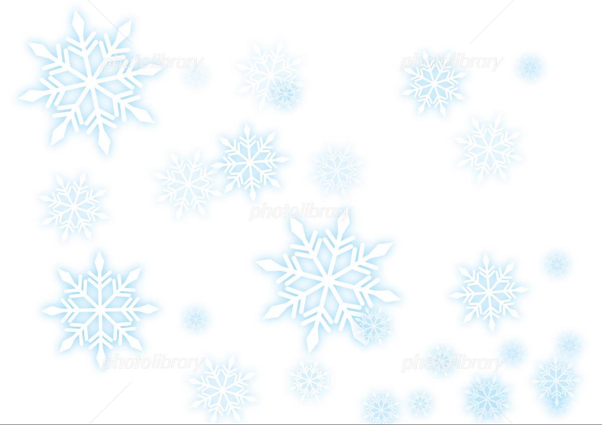 背景素材 雪の結晶 イラスト素材 [ 1116735 ] - フォトライブラリー