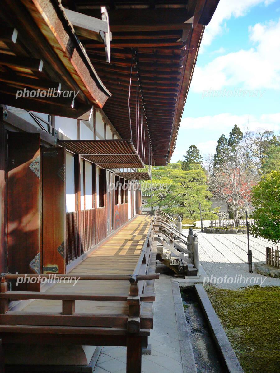 京都 世界遺産 総本山 仁和寺 廊下の写真