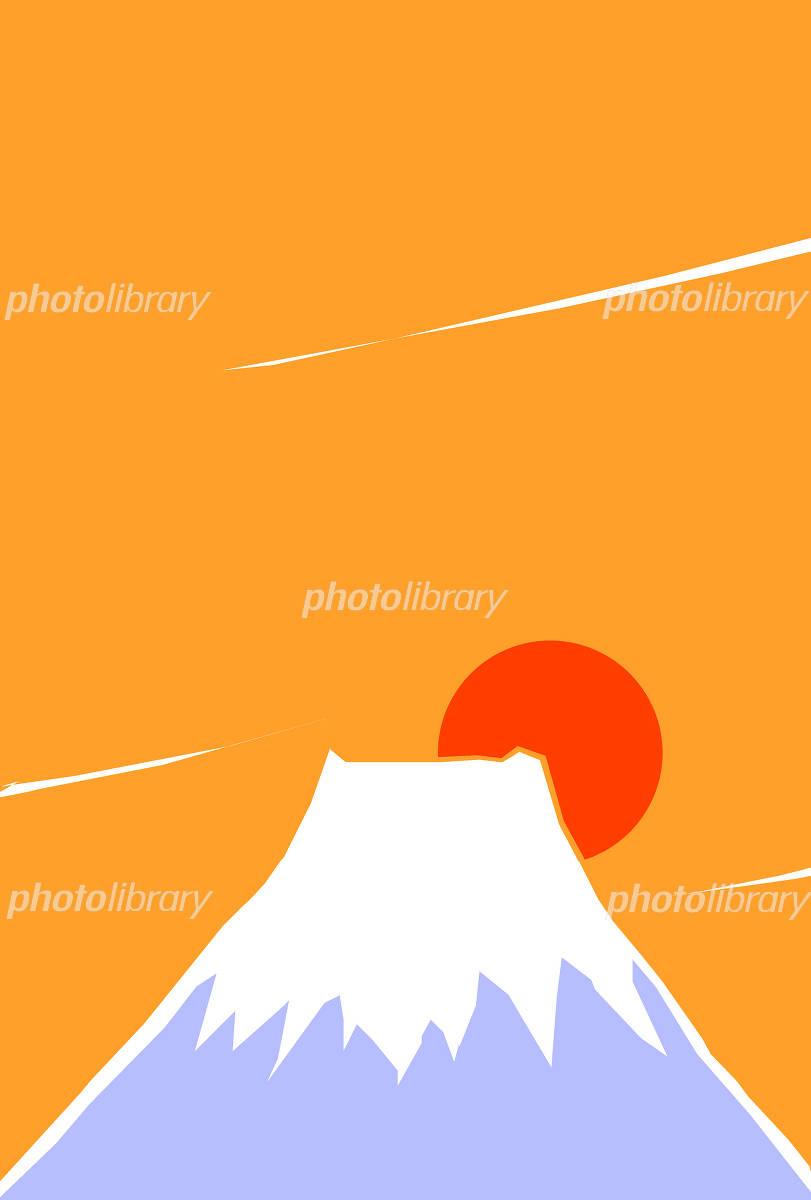 イラスト 富士山 日の出 イラスト素材 1121110 フォトライブ