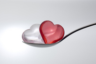 Heart of objects that are placed on the spoon Stock photo [1113783] Hart