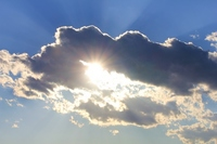 Blue sky and clouds and sun Stock photo [1119717] Blue