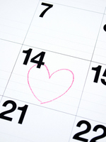 Calendar Stock photo [1119982] Valentine's