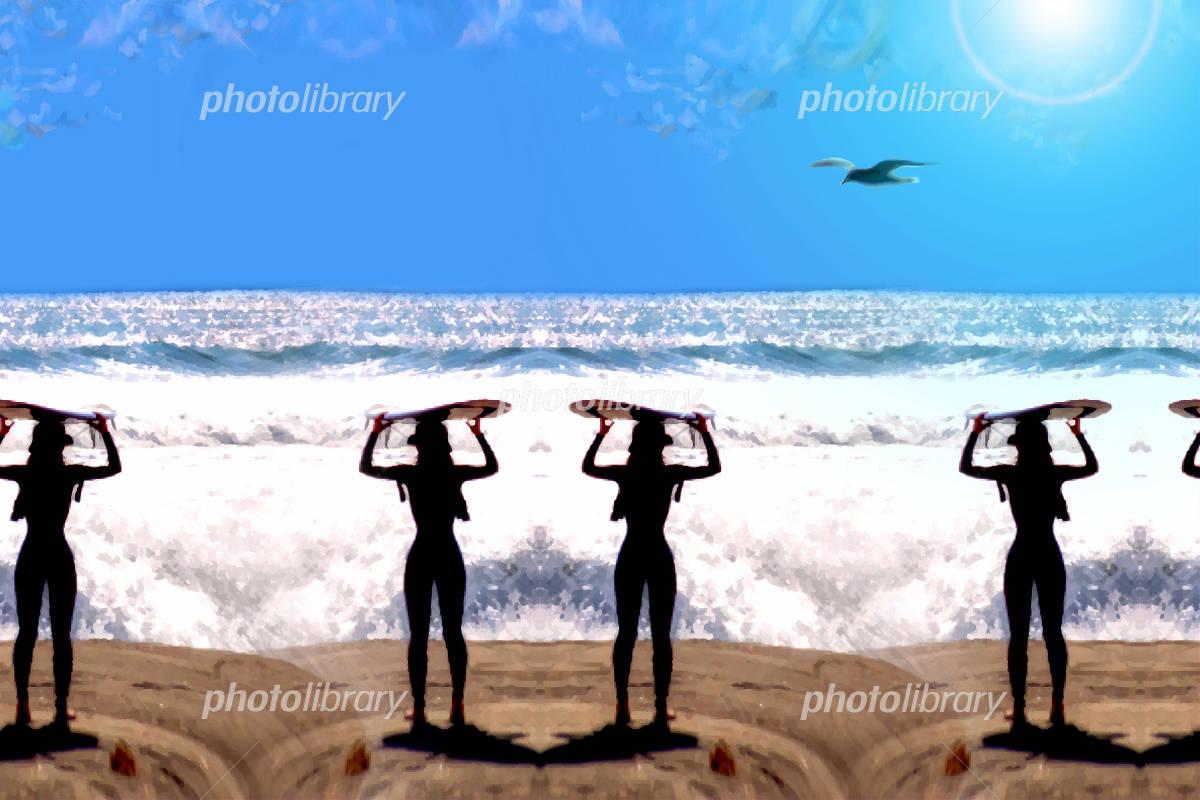 サーファー イラスト素材 1222181 フォトライブラリー Photolibrary
