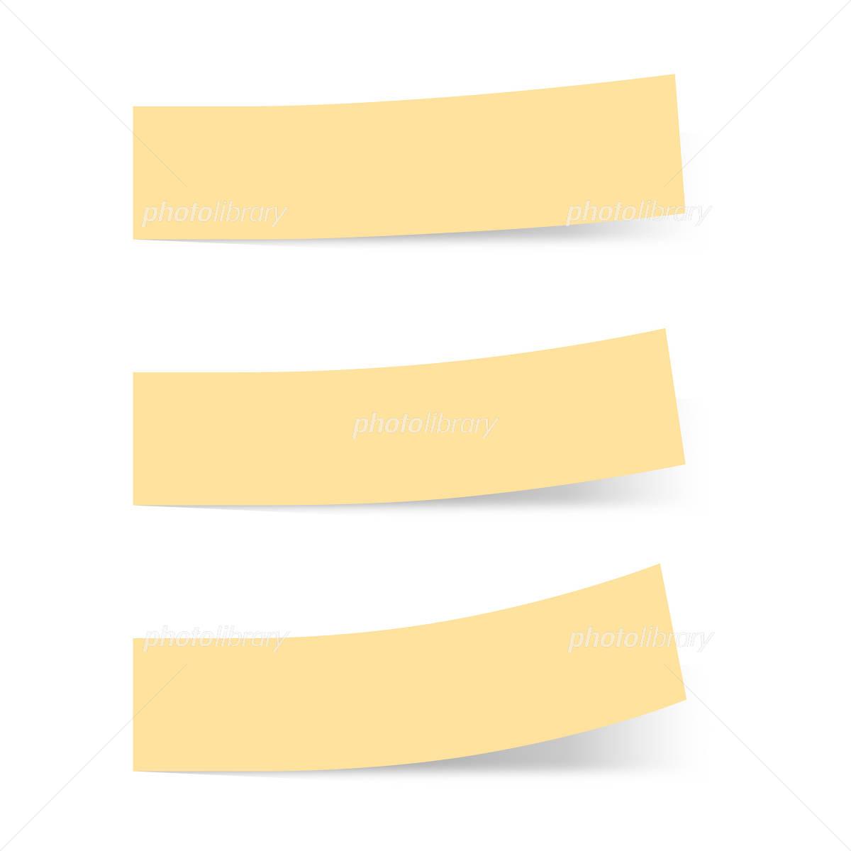 付箋紙 見出し オレンジ ベタ単色 イラスト素材 1227735 フォト