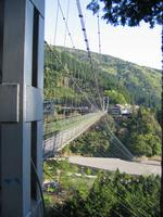 Suspension bridge of Tanize of Nara Prefecture Totsukawa Stock photo [1221043] Nara