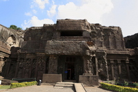 Ellora Caves Kairasanata temple front entrance Stock photo [1226199] Ellora