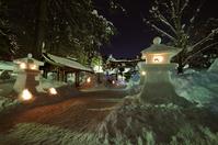 Snow lantern festival Uesugi Shrine Yonezawa Stock photo [1228135] Snow