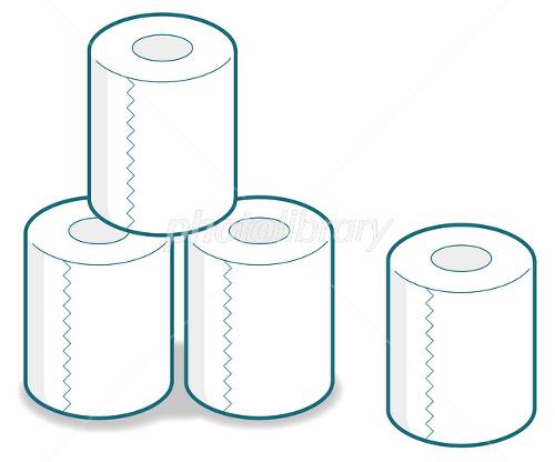 トイレットペーパー-写真素材