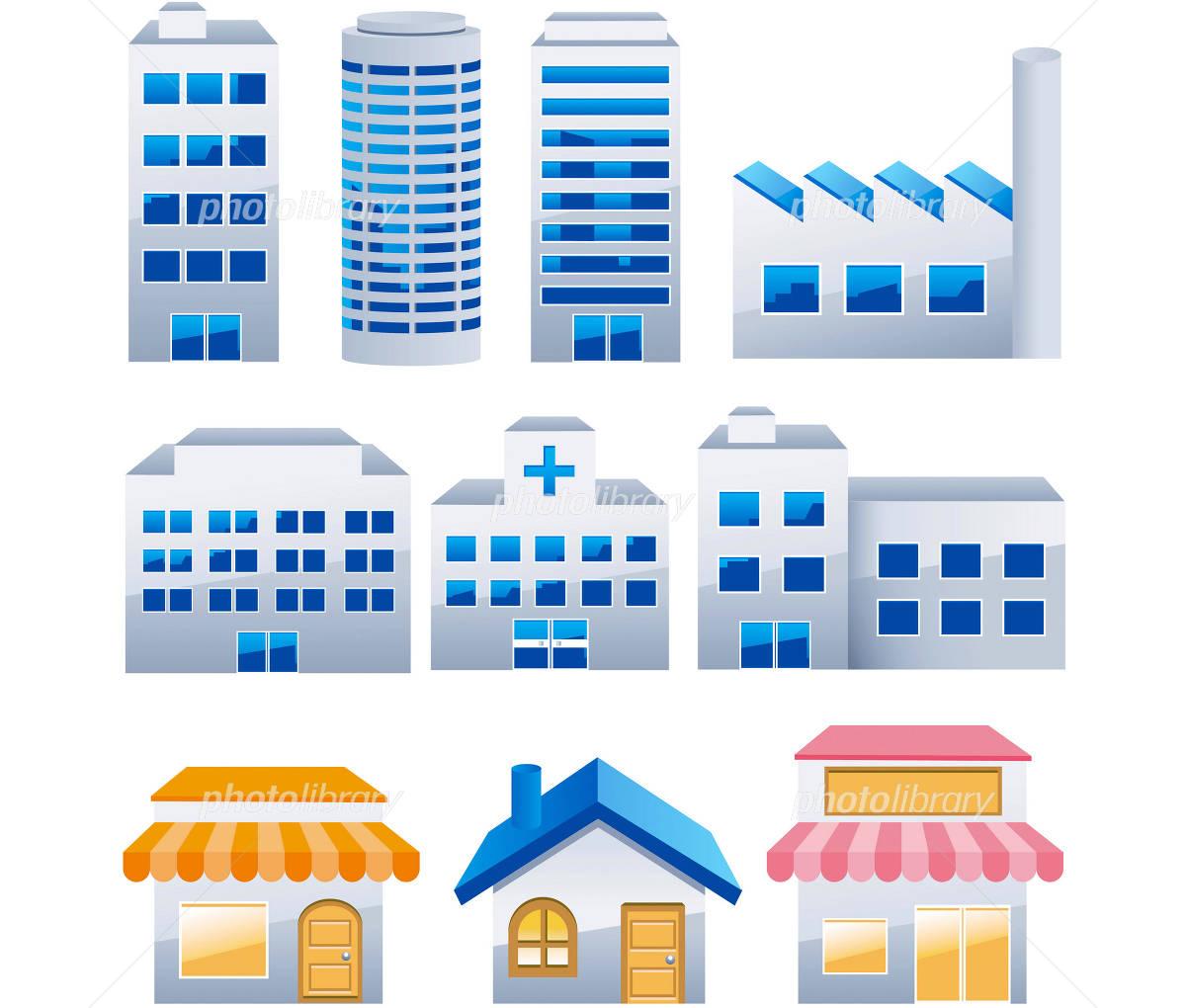 建物 ビル 素材 イラスト素材 1320866 フォトライブラリー