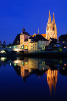 Streets of Germany Regensburg Old Town Stock photo [1310108] Europe