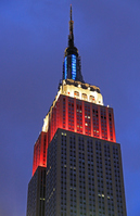 Light up the Empire State Building Stock photo [1311373] America