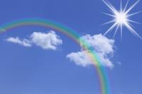 Rainbow and blue sky Stock photo [1312999] Rainbow