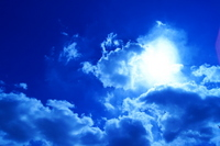 Blue sky and blue clouds Stock photo [1313409] Empty