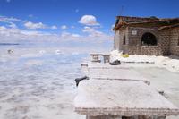 Bolivia Uyuni salt lake and salt table Stock photo [1317099] South