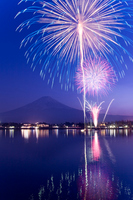 Fuji and fireworks Stock photo [1324275] Fireworks