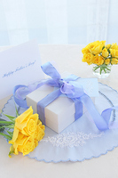 Yellow roses and gifts Stock photo [1401365] Father's