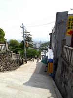 こんぴらさんの階段 の写真素材