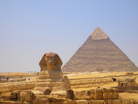 The Sphinx and pyramids Stock photo [1407984] Egypt