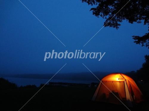 Higashionuma camp night Photo