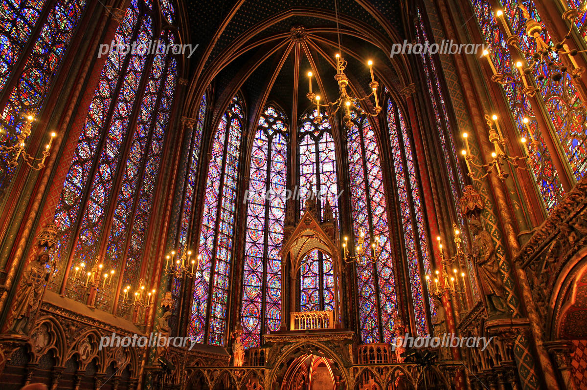 Stained glass of the Sainte-Chapelle Photo