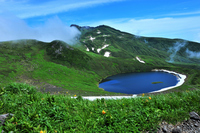 Mt.Chokai and Toriumi Lake of summer Stock photo [1498240] Summerhill