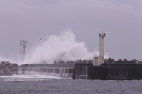 Waves striking the breakwater Stock photo [1498796] Oiso
