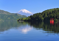 Fuji from Lake Ashi shores Stock photo [1500657] Mt.